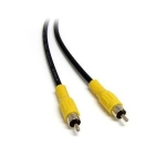 StarTech RCAVIDHQ6 Coaxial RCA Composite Video Cable M/M, 6ft. [NEW]